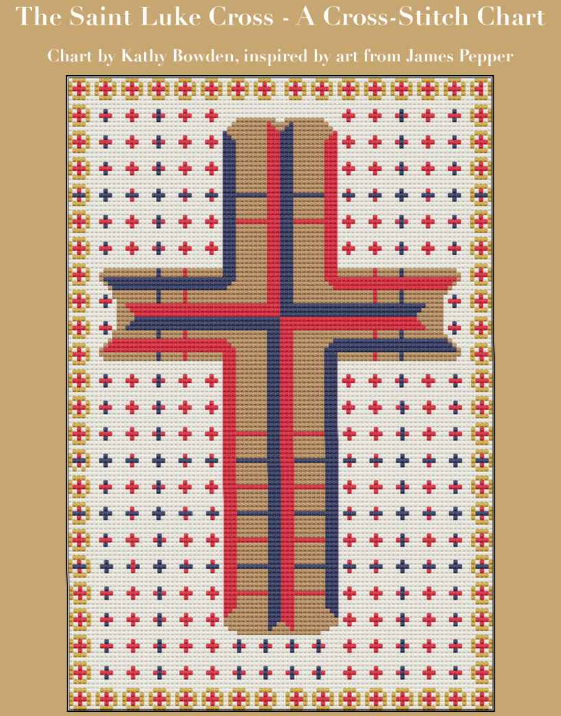 Saint Luke Cross Stitch page from the Pepper Bible