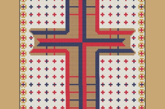 Saint Luke Cross – a Cross-Stitch Chart